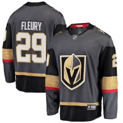 VEGAS GOLDEN KNIGHTS -  CHARCOAL REPLICA JERSEY (YOUTH) (LARGE/X-LARGE) 29 -  MARC-ANDRE FLEURY