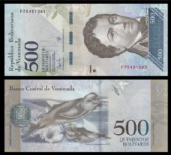 VENEZUELA -  500 BOLIVARES 2017 (UNC)