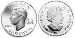VIGNETTES OF ROYALTY -  KING GEORGES VI -  2009 CANADIAN COINS 04