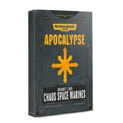 WARHAMMER 40K -  DATASHEET CARDS CHAOS SPACE MARINES -  APOCALYPSE