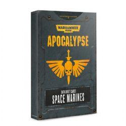WARHAMMER 40K -  DATASHEET CARDS SPACE MARINES -  APOCALYPSE