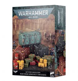 WARHAMMER 40K -  MUNITORUM ARMOURED CONTAINERS -  BATTLEZONE MANUFACTORUM