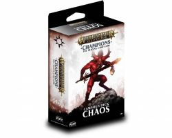 WARHAMMER AGE OF SIGMAR -  CHAMPIONS - CHAOS - CAMPAIGN DECK (38 CARDS + PLAYMAT)