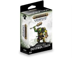 WARHAMMER AGE OF SIGMAR -  CHAMPIONS - DESTRUCTION - CAMPAIGN DECK (38 CARDS + PLAYMAT)