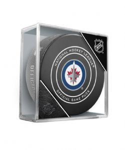 WASHINGTON CAPITALS -  OFFICIAL GAME PUCK IN PLASTIC CASE