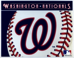 WASHINGTON NATIONALS -  DECAL 5X6 REMOVABLE AND REUSABLE