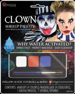 WATER-ACTIVATED MAKEUP -  CLOWN MAKEUP PALETTE -  WOOCHIE
