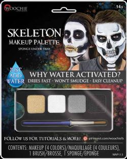 WATER-ACTIVATED MAKEUP -  SKELETON MAKEUP PALETTE -  WOOCHIE