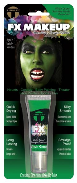 WATER-BASED MAKE-UP -  TINSLEY FX - WITCH GREEN