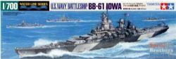 WATER LINE SERIES -  U.S. NAVY BATTLESJIP BB-61 IOWA 1/700