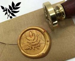 WAX SEAL STAMP -  LEAF STAMP