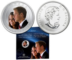 WEDDING CELEBRATION -  GIFT CARD OF THE PRINCE WILLIAM AND MISS CATHERINE MIDDLETON -  2011 CANADIAN COINS