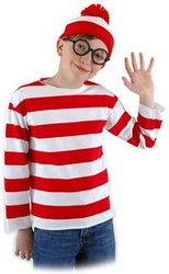 WHERE'S WALDO? -  WALDO COSTUME (CHILD)