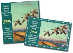 WILDLIFE STAMP -  1996 CANADA'S WILDLIFE STAMP 12