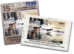 WILDLIFE STAMP -  1999 CANADA'S WILDLIFE STAMP 15