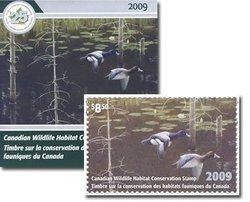 WILDLIFE STAMP -  2009 CANADA'S WILDLIFE STAMP 25
