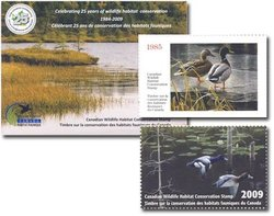 WILDLIFE STAMP -  25TH ANNIVERSARY EDITION 2009 CANADA'S WILDLIFE STAMP 25