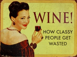 WINE -  METAL POSTER