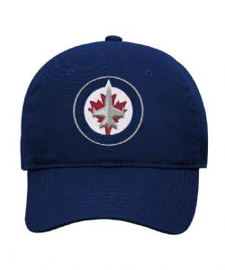 WINNIPEG JETS -  LOGO ADJUSTABLE CAP - BLUE (YOUTH)