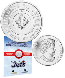 WINNIPEG JETS -  WINNIPEG JETS -  2011 CANADIAN COINS