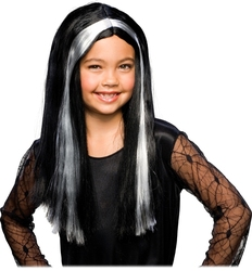 WITCH -  WITCH WIG - BLACK AND WHITE (CHILD)