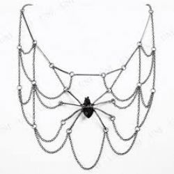 WITCHES AND WIZARDS -  SPIDER WEB NECKLACE