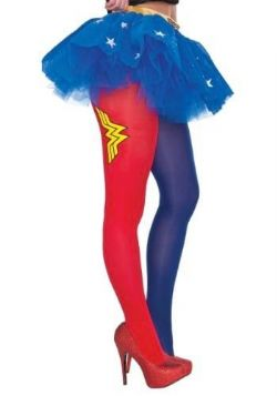 WONDER WOMAN -  WONDER WOMAN PANTYHOSE - ONE SIZE -  PANTYHOSE