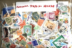 WORLD -  1600 ASSORTED STAMPS - WORLD