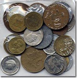 WORLD COINS -  25 DIFFERENT WORLD COINS SET
