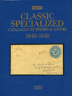 WORLD STAMPS -  SCOTT 2020 CLASSIC SPECIALIZED CATALOGUE OF STAMPS&COVERS (1840-1940)
