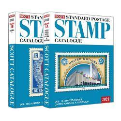 WORLD STAMPS -  SCOTT 2021 STANDARD POSTAGE STAMP CATALOGUE (U.S.-U.N.-A-B) 01