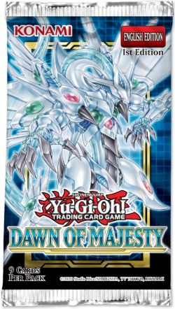 YU-GI-OH! -  DAWN OF MAJESTY BOOSTER PACK (ENGLISH) -  1ST EDITION