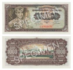 YUGOSLAVIA -  1000 DINARS 1963 (UNC)