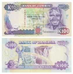 ZAMBIA -  100 KWACHA 1991 (UNC)