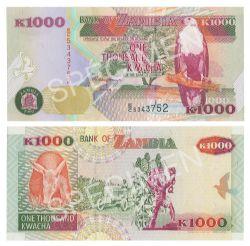 ZAMBIA -  1000 KWACHA 1992 (UNC)