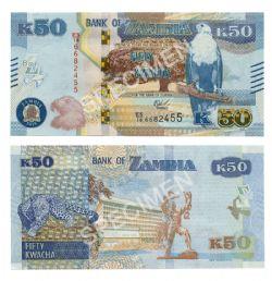 ZAMBIA -  50 KWACHA 2018 (UNC)