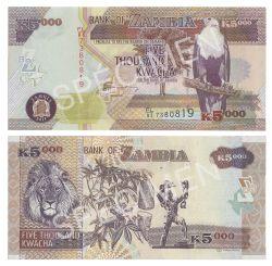 ZAMBIA -  5000 KWACHA 2011 (UNC)