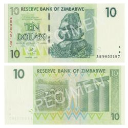 ZIMBABWE -  10 DOLLARS 2007 (UNC)