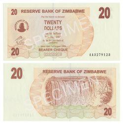 ZIMBABWE -  20 DOLLARS 2006 (UNC)