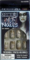 ZOMBIE -  REUSABLE PRESS ON NAILS