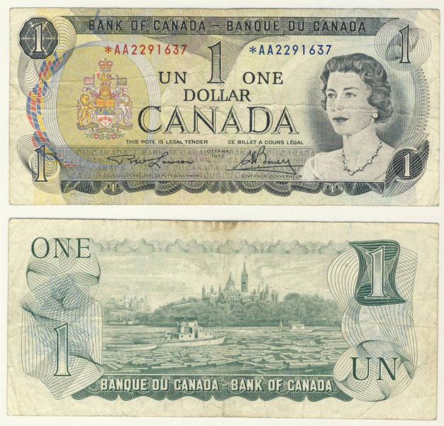1973 -  1 DOLLAR 1973, LAWSON/BOUEY (VG)