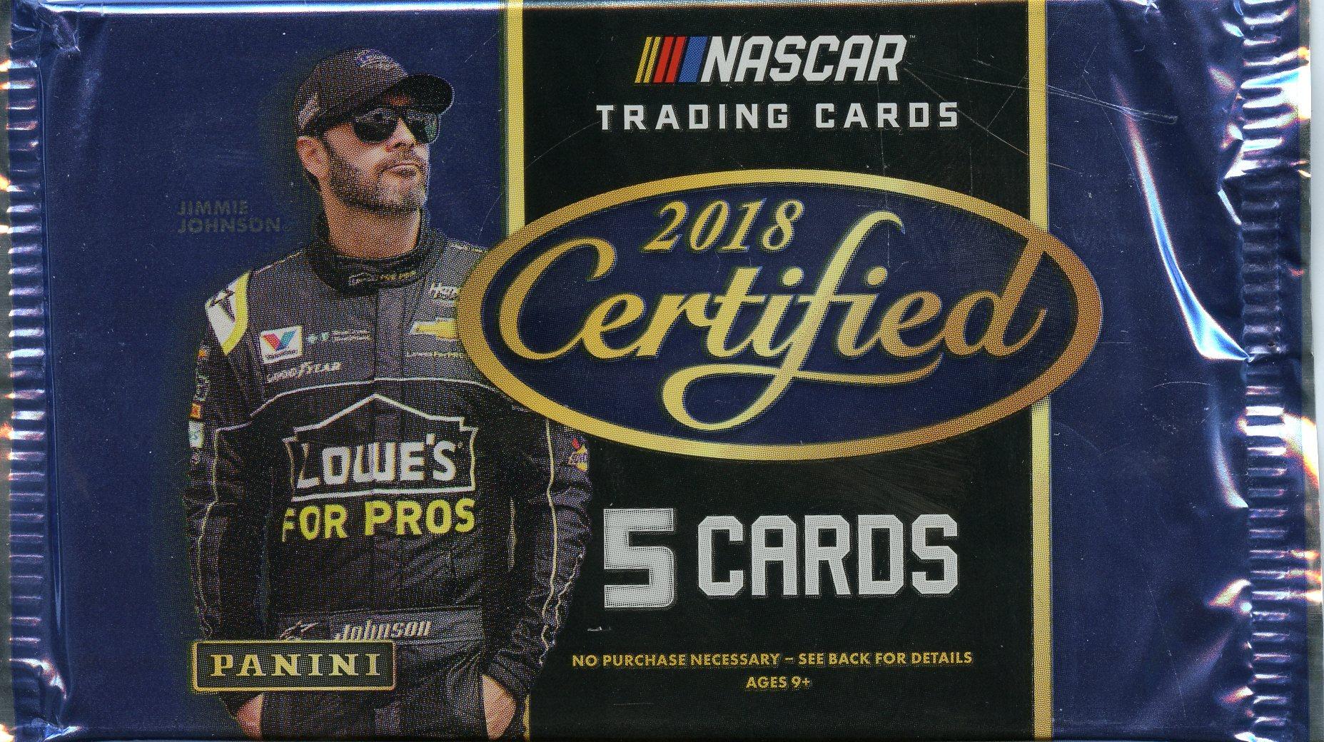 2018 NASCAR -  PANINI CERTIFIED (P5/B10)
