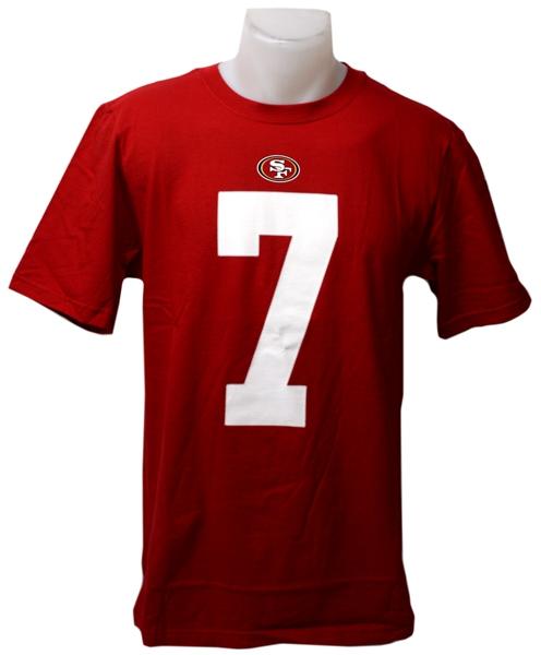 release date ad727 26633 49ERS DE SAN FRANCISCO - T-SHIRT COLIN KAEPERNICK #7 ROUGE / FOOTBALL LNF /  T-SHIRTS