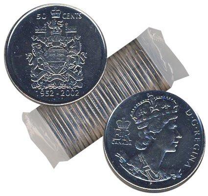 50 CENTS -  ROULEAU ORIGINAL DE 50 CENTS 2002