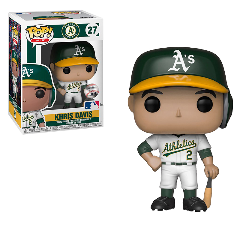 ATHLETICS D'OAKLAND -  FIGURINE POP! EN VINYLE DE KHRIS DAVIS (10 CM) 27