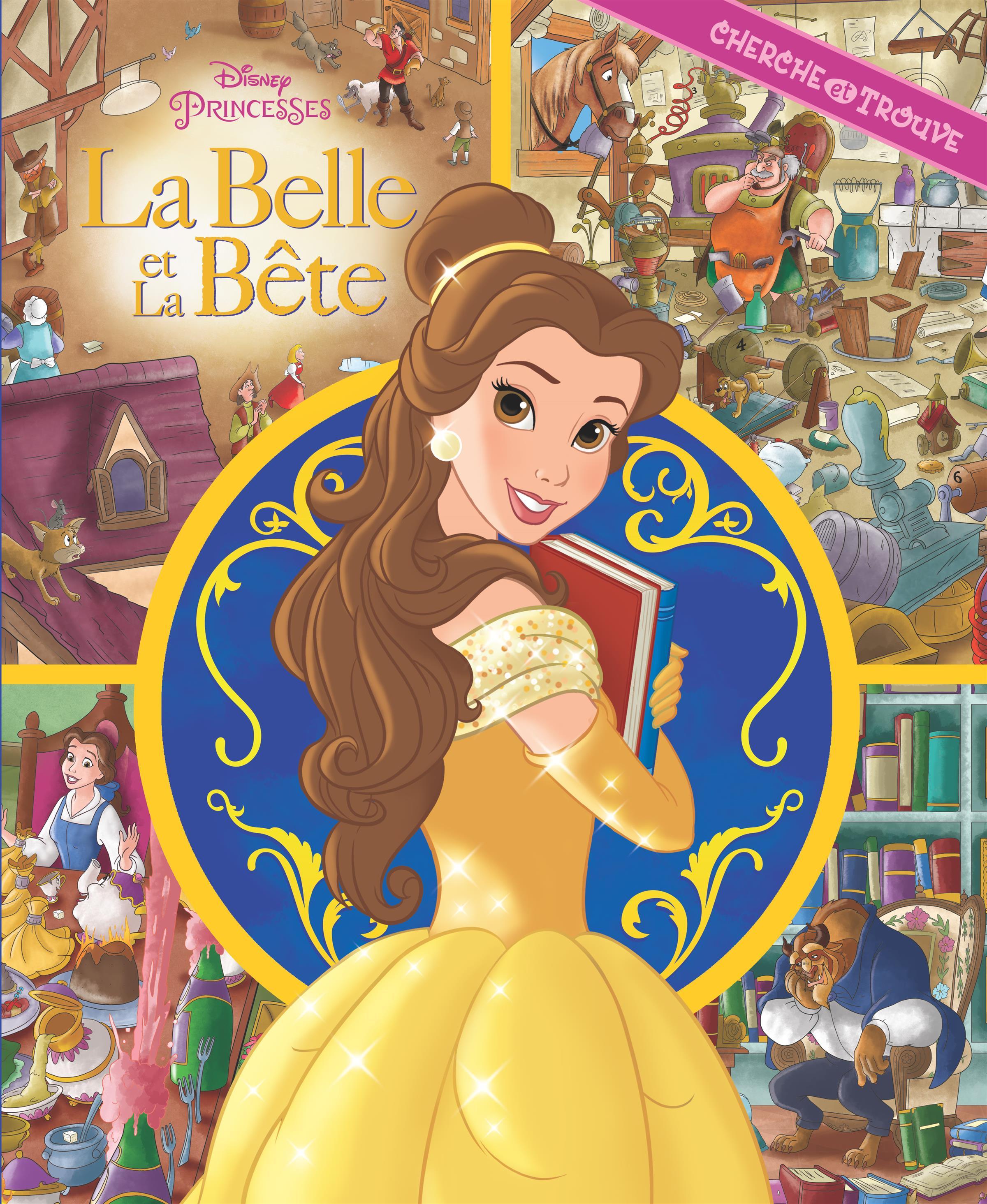 Belle Et La Bete La La Belle Et La Bete Mon Premier Cherche Et Trouve Princesses Disney