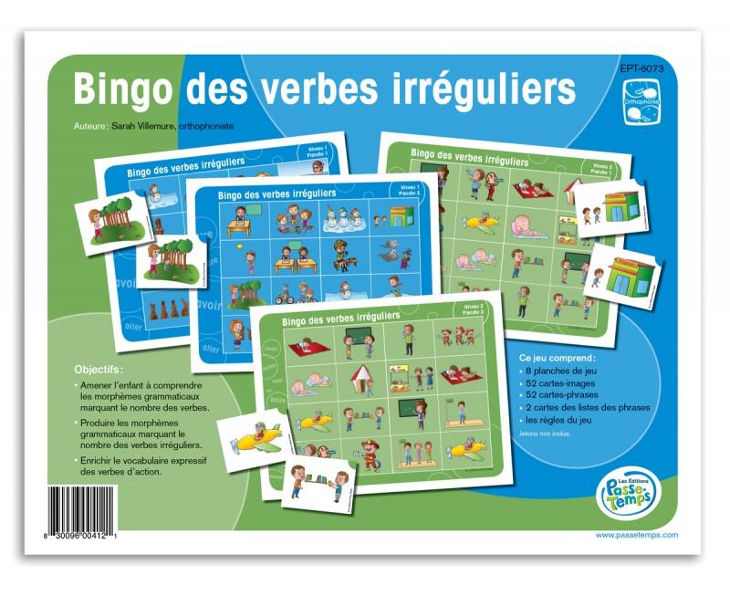 Bingo Des Verbes Irreguliers Francais Jeux Pour Enfants