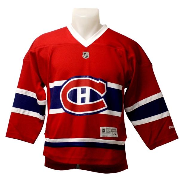 Canadiens De Montreal Nouveau Chandail Replique Rouge Imprime Enfant Hockey Repliques Enfants 8 14 Ans