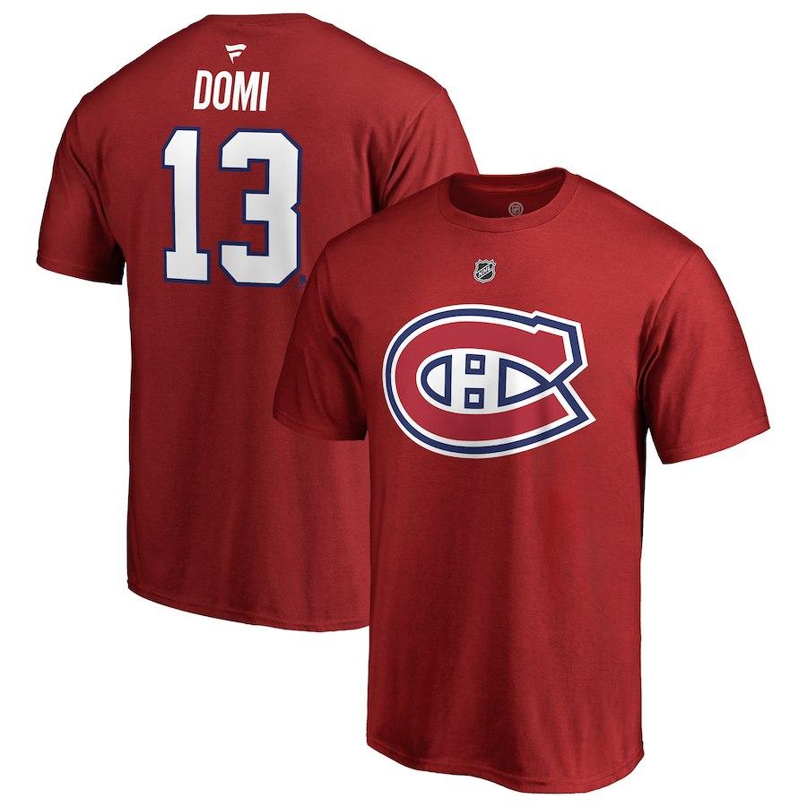 Canadiens De Montreal T Shirt Max Domi 13 Rouge