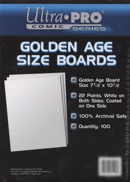 CARTONS -  FORMAT GOLDEN AGE (100)